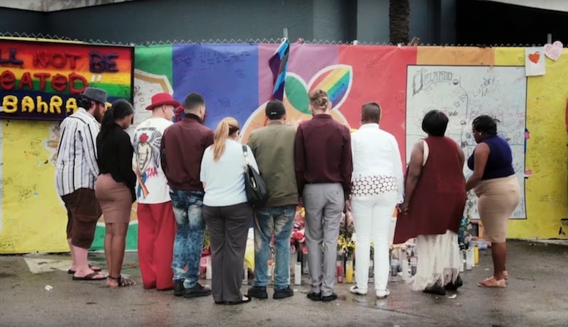 Some of the survivors stand out the Pulse nightclub in Orlando with Iyanla Vanzant on Fix My Life