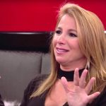 Jill Zarin gesticulating at a lunch table on The Real Housewives of New York City
