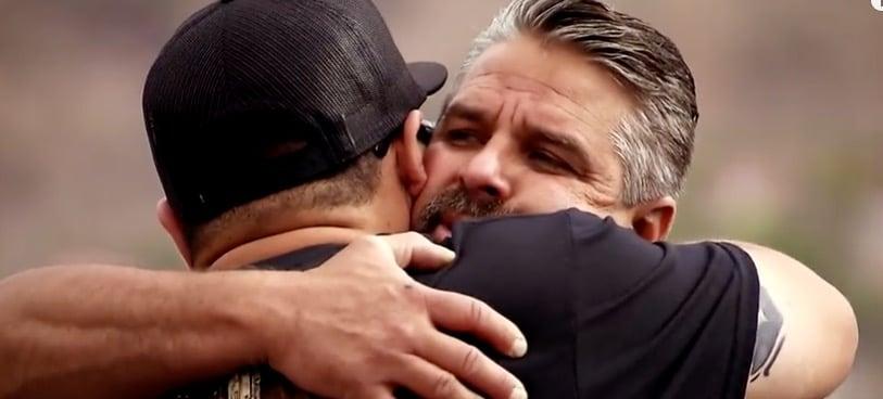 Emotional scenes between a tight team
