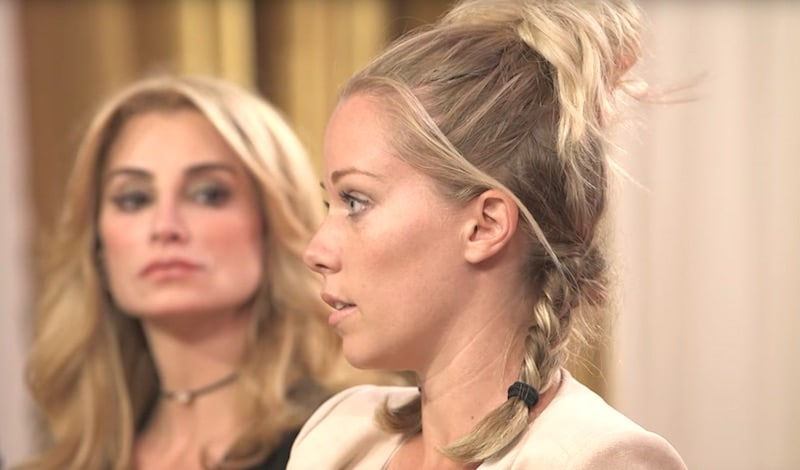 Kendra Wilkinson with Dr. V behind her