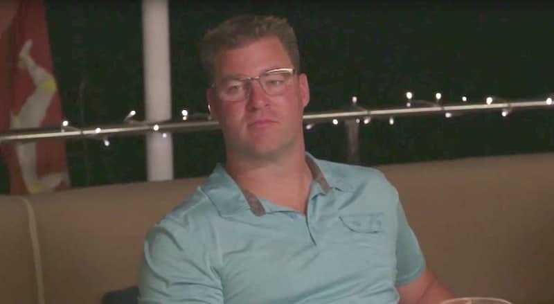 Kenny Novotny during dinner on Below Deck Mediterranean