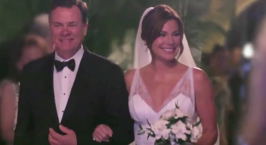 Luann's brother Michael walks her down the aisle on The Real Housewives of New York City
