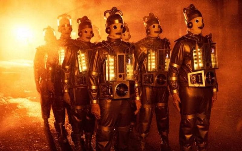 A group of Mondasian Cybermen
