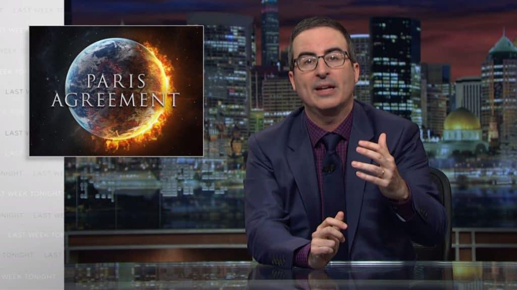 John Oliver brands Trump's climate change speech 'flamboyantly deceptive' on Last Week Tonight