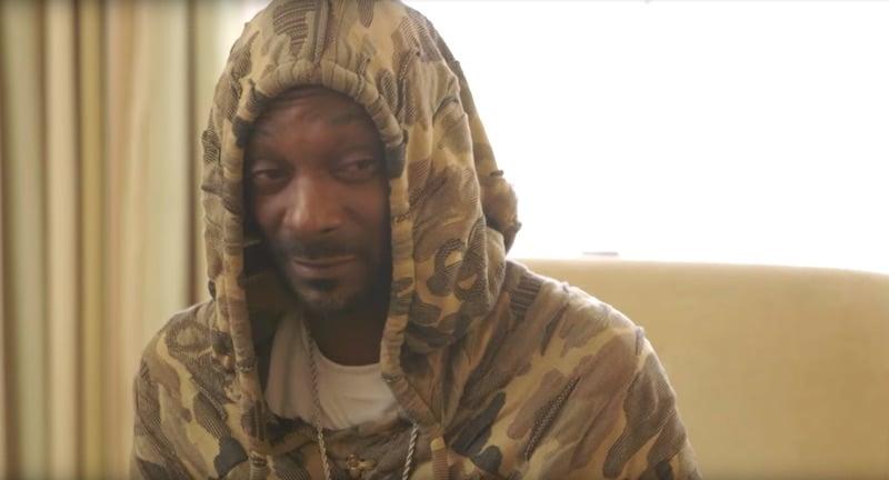 Snoop Dogg in a hoodie on Growing Up Hip Hop Atlanta