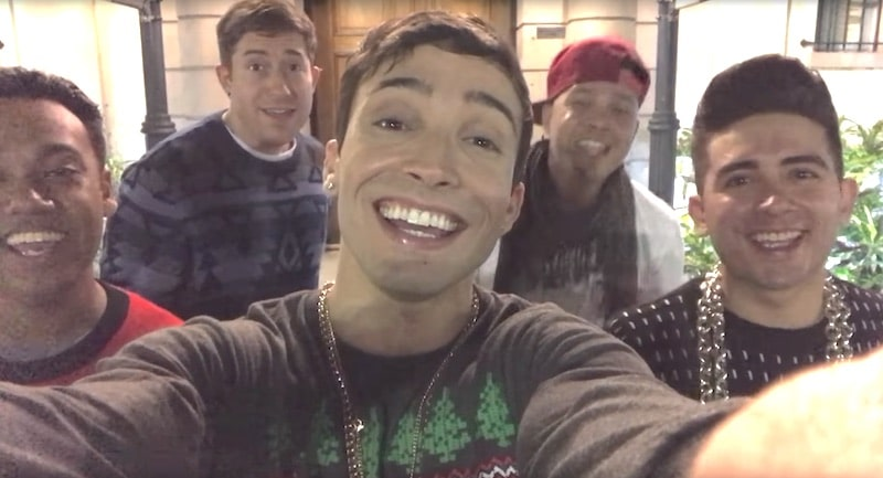 5 Alive looking at the camera in the video for their song Sex This Christmas