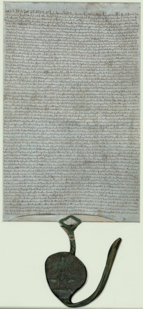 Magna Carter (pictured) and other documents like the Declaration of Arbroath were an important inspiration to the Founding Fathers