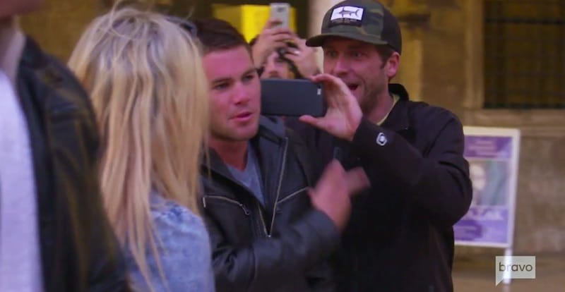 Wes talking to Bugsy as Adam and another person film him from behind