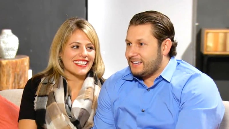 Ashley and Anthony smiling on the Married at First Sight reunion