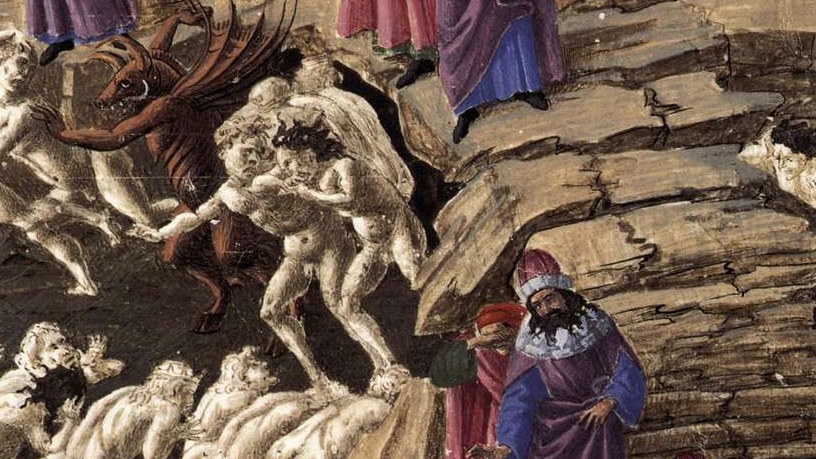A section of Botticelli's illustrations for Dante's Inferno