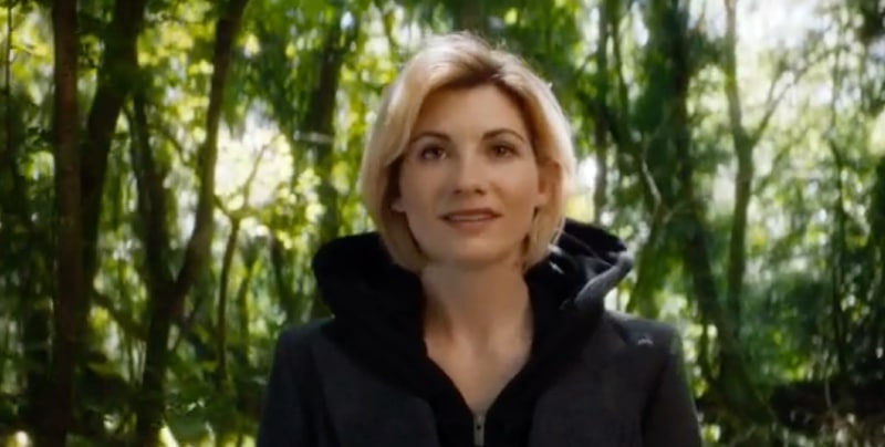 The new Doctor smiles as she sees the TARDIS