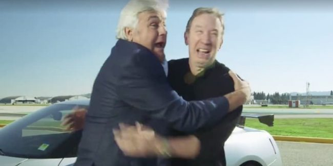 Jay Leno and Tim Allen on Jay Leno's Garage