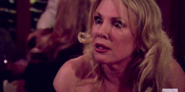 Ramona staring at Bethenny on The Real Housewives of New York