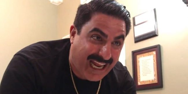 Reza Farahan screaming in pain on Shahs of Sunset