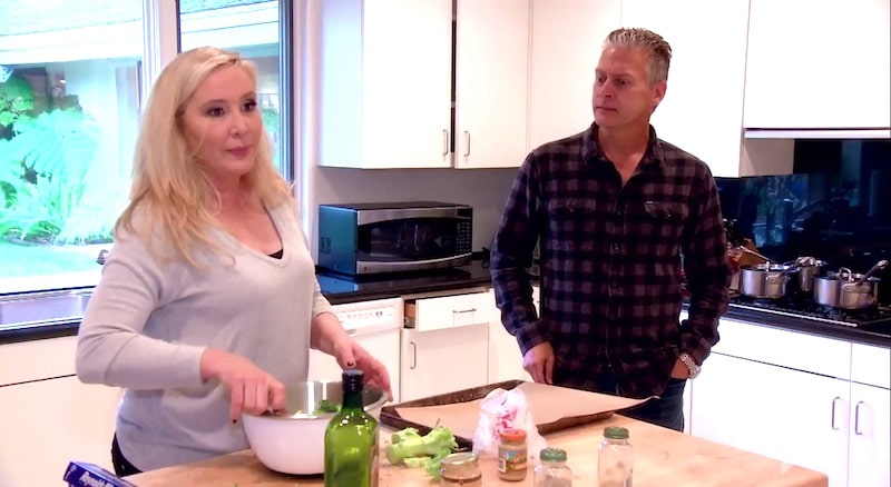 Shannon in the kitchen with husband David