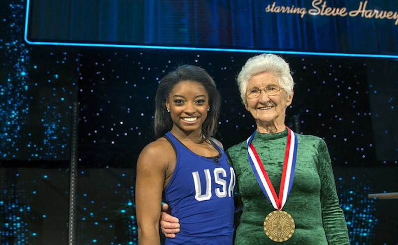 Simone Biles and Johanna Quaas on Little Big Shots: Forever Young