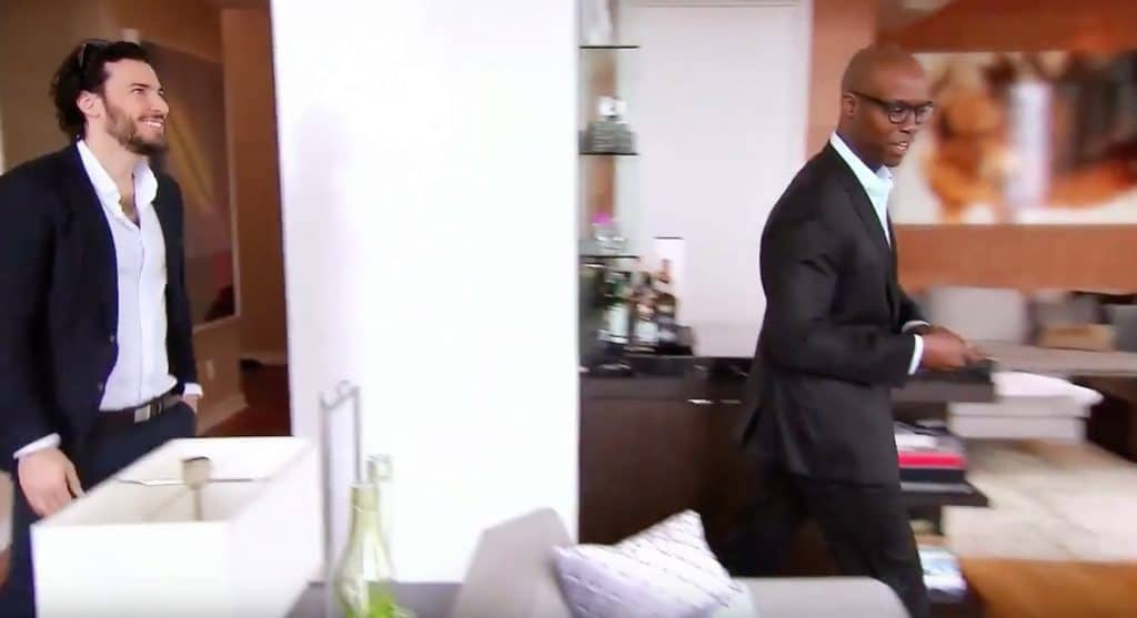 Steve Gold grins as he sees this new apartment