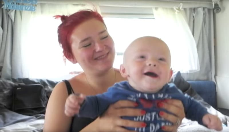 Megan with her son Mackenzie