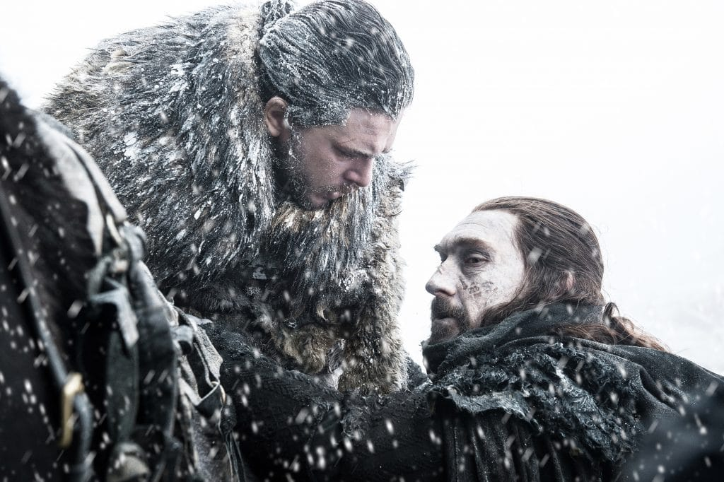 Jon Snow is saved by Benjen Star