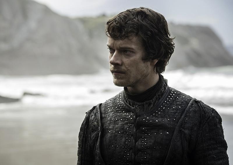 Alfie Allen as Theon Greyjoy on Game of Thrones.