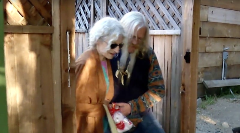 Billy helping Ami to walk on Alaskan Bush People