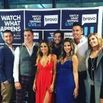 The Below Deck Mediterranean crew posing for a photo at the Bravo studio