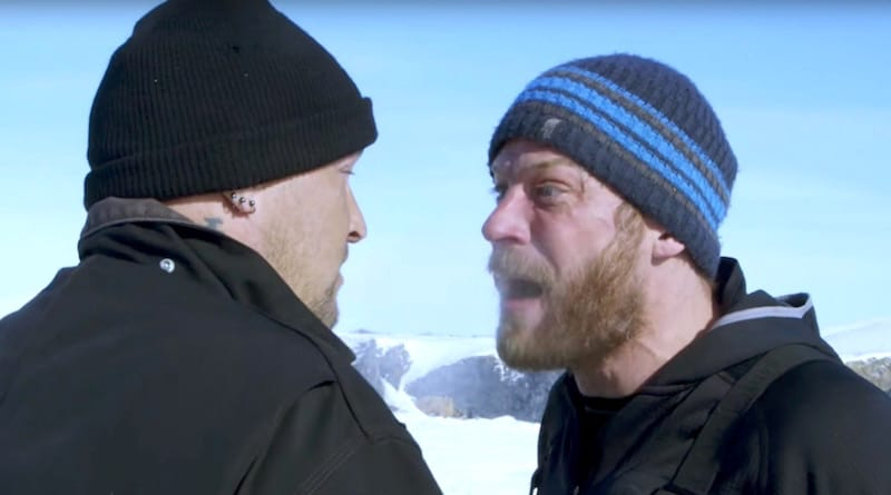 Shawn Pomrenke and Andy Kelly arguing on Bering Sea Gold