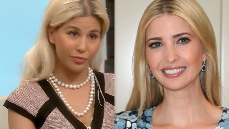 Tiffany pictured next to Ivanka Trump
