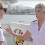 Bugsy talking angrily to Hannah aboard the Sirocco on Below Deck Mediterranean