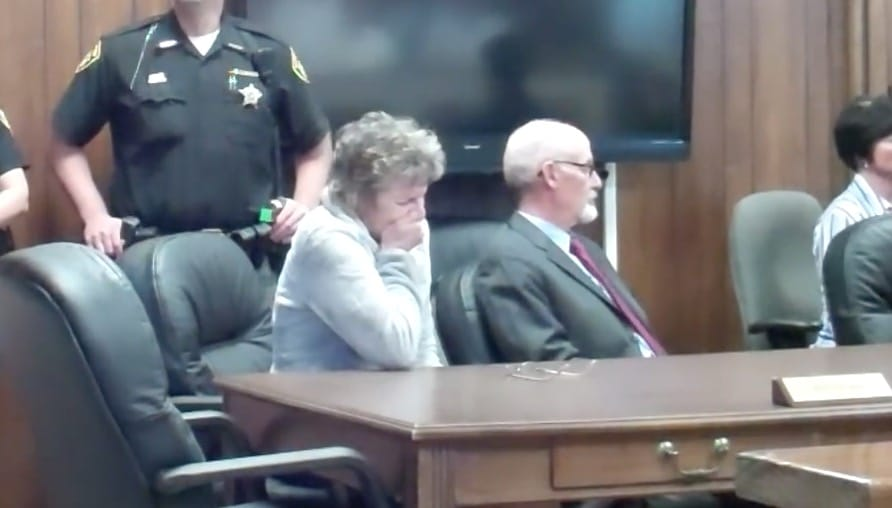 Doretta Scheffield in court sobbing