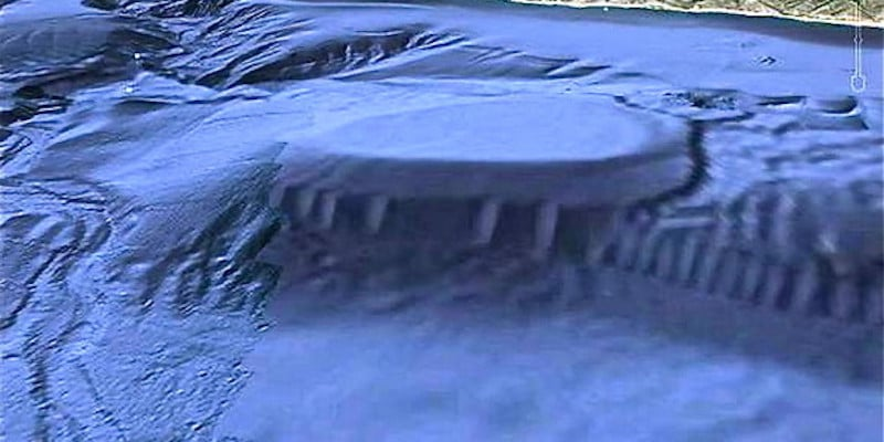 A Google Earth image of part of the sea floor off Malibu