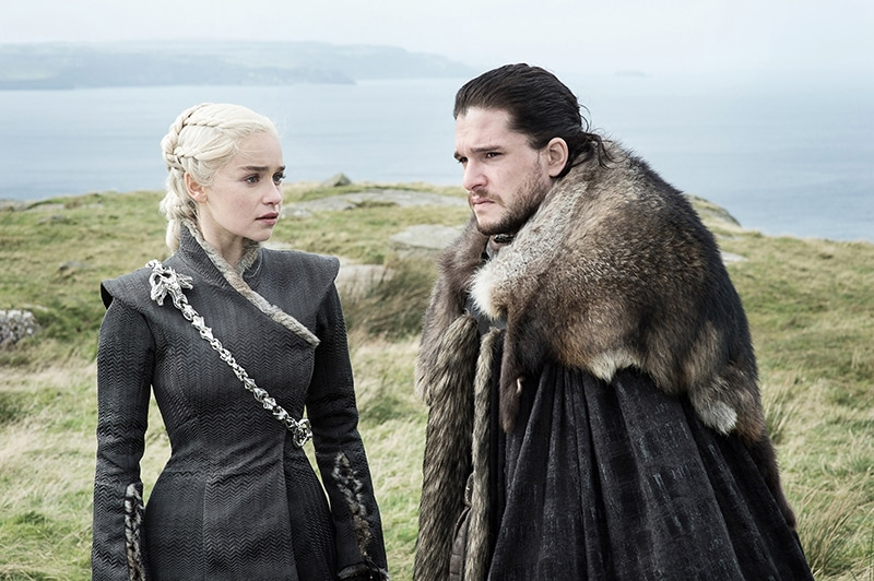 Jon Snow and Daenerys Taragaryen in 'Eastwatch'