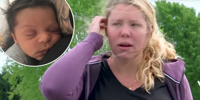 Kailyn Lowry on Teen Mom 2 and, inset, Baby Lo