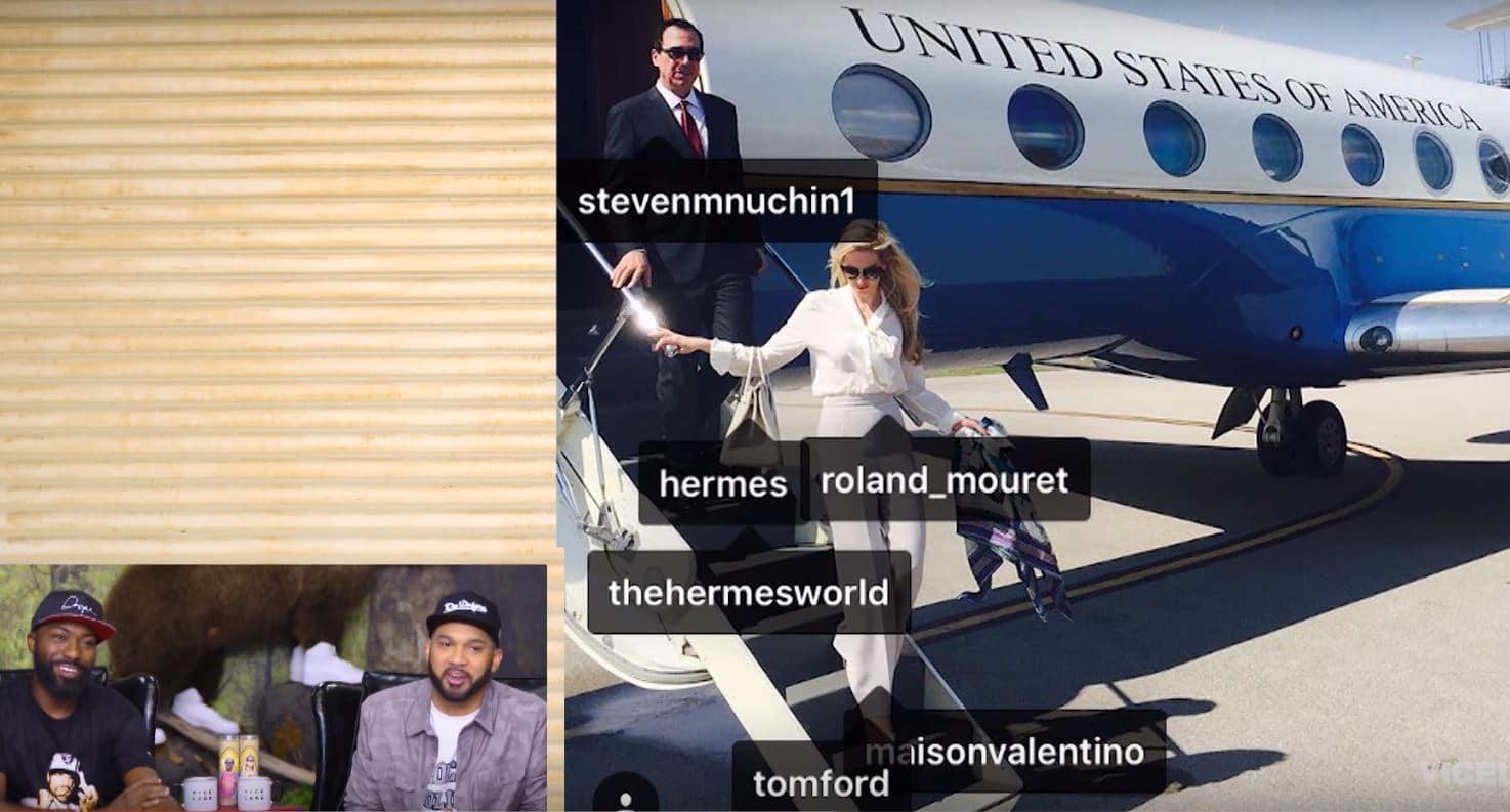 Louise Linton Marie Antoinette >> Desus & Mero give Bronx cheer to Mnuchin's wife Louise Linton