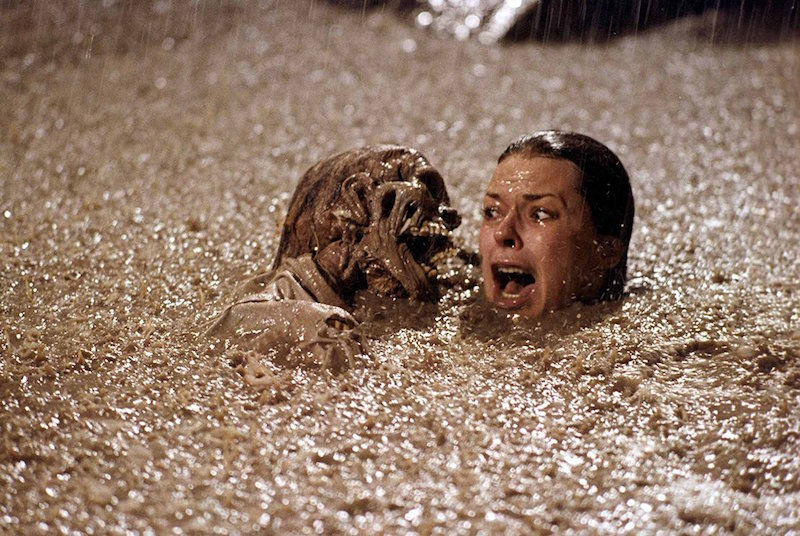 JoBeth Williams being attacked by a skeleton in Poltergeist