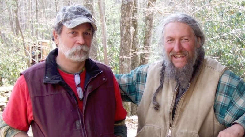 Preston Roberts and Eustace Conway of Mountain Men standing together