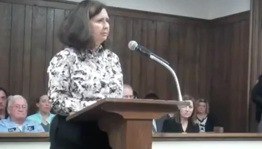 Randy Scheffield's sister speaking in court