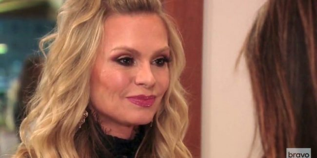 Tamra Judge talking to Peggy Sulahian on The Real Housewives of Orange County