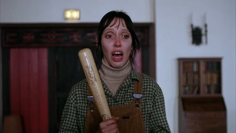 Shelley Duvall wields a baseball bat in The Shining