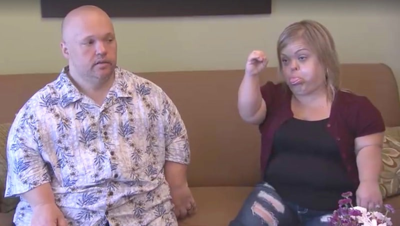 Christy and Todd on Little Women: Couples Retreat