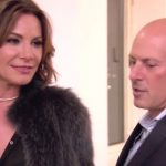 Tom and Luann standing talking on The Real Housewives of New York