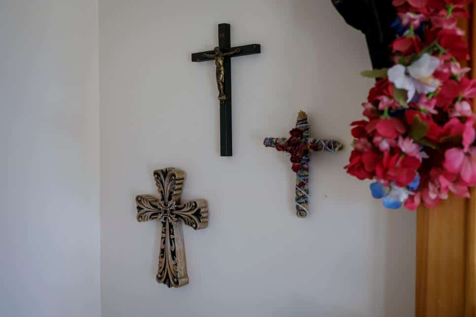 Crosses hanging on the wall