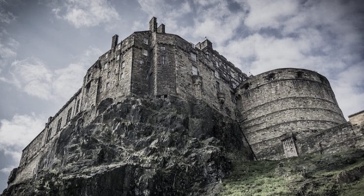 Edinburgh Castle in Scotland