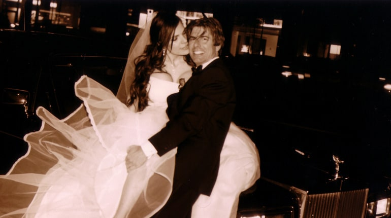 Dino Guglielmelli and Monica Olsen on their wedding day