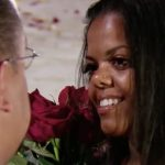 Jazmin Lang as her husband David gets down on one knee on the Little Women: Couples Retreat