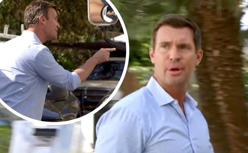 Jeff Lewis arguing with a neighbor on Flipping Out