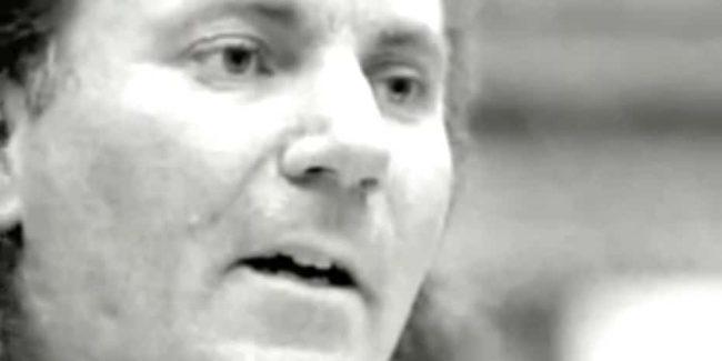 Black and white photo of Jeffrey Lundgren