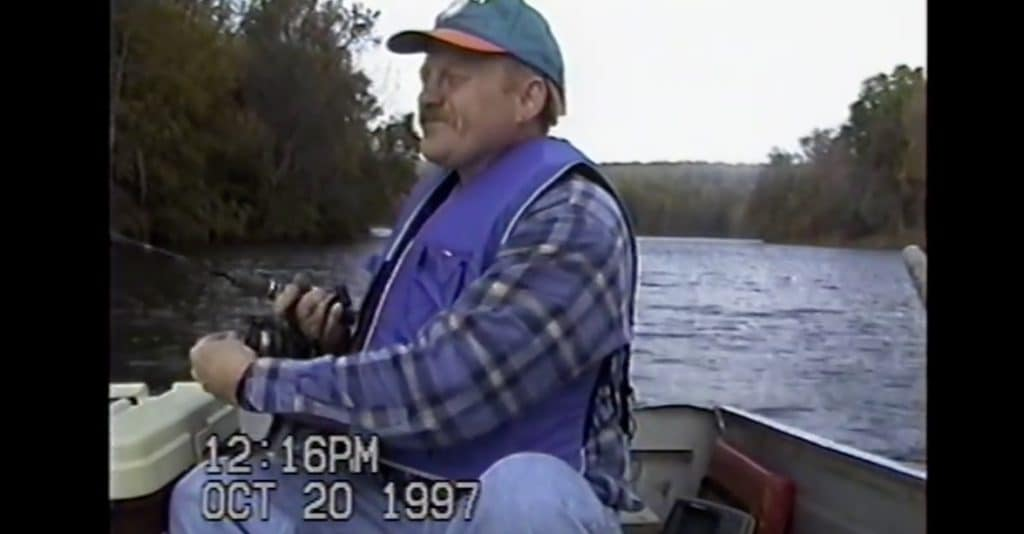 Kevin Dowling fishing in video