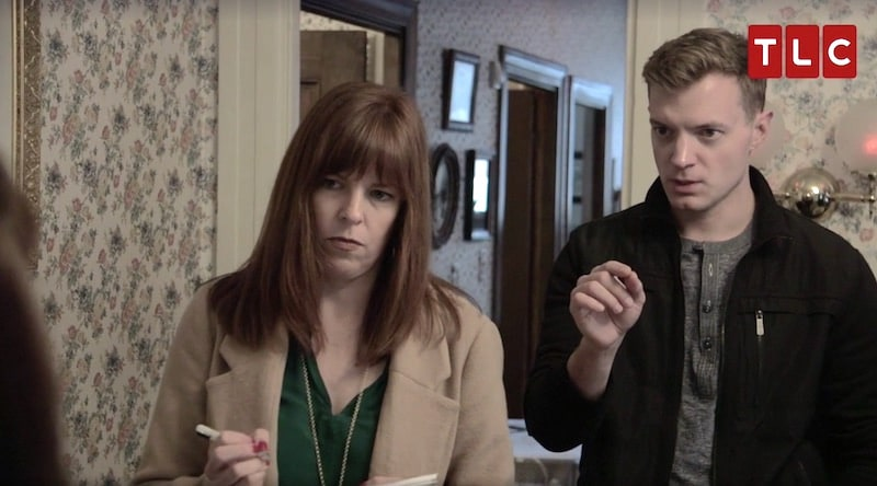 Ami Bruni and Adam Berry at the Lizzie Borden House on Kindred Spirits