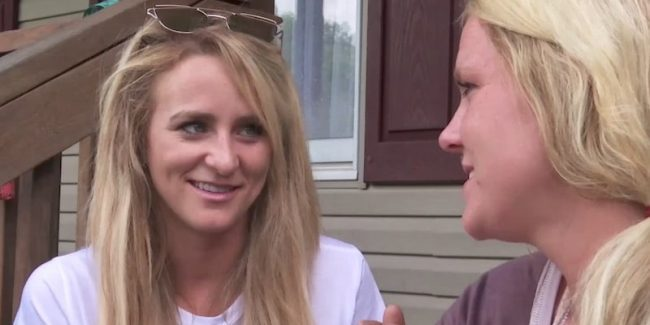 Leah Messer talks to her sister Victoria on Teen Mom 2
